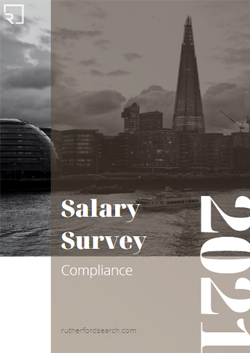 cover of rutherford compliance salary survey 2021
