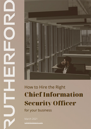cover of rutherford guide how to hire the right chief information security officer