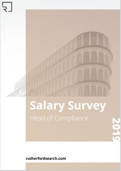 cover of rutherford salary survey head of compliance 2019