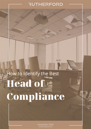 cover of rutherford guide how to identify the best head of compliance