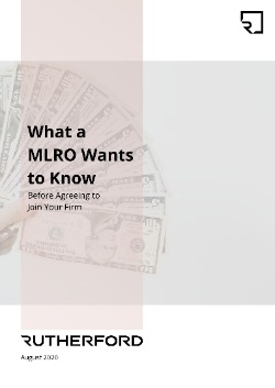 cover of rutherford guide what a mlro wants to know before agreeing to join your firm